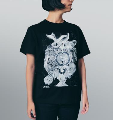 Tシャツ 火の鳥(黒)